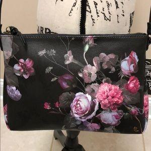 Elliott Lucca black flowered cross body bag
